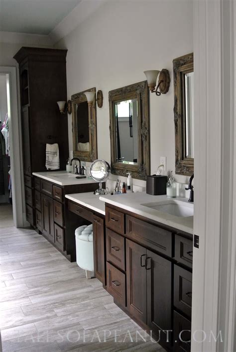 Master Bath Vanities Pictures building a home master bathroom reveal jenn elwelljenn