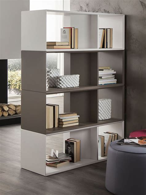libreria bassa moderna pa606 libreria modulare in legno laccato bicolore
