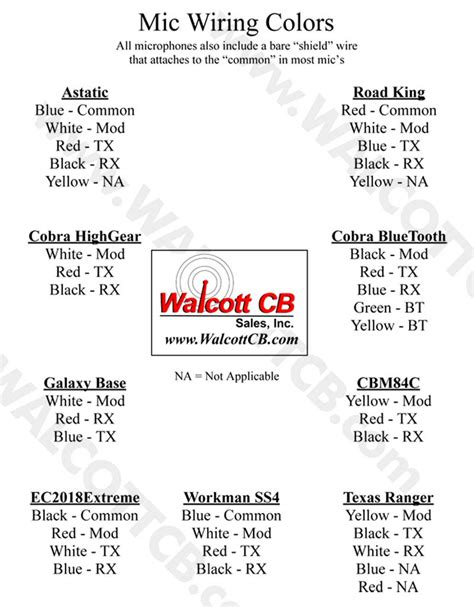 microphone wiring diagrams www walcottcb