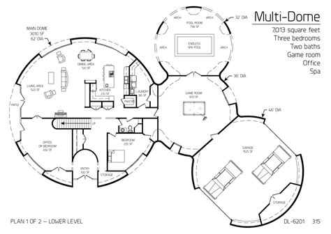 monolithic dome homes floor plans floor plan dl 6201 monolithic dome institute