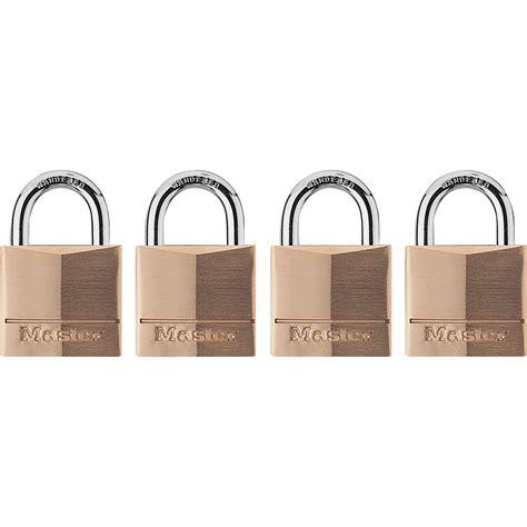 Special Lock4 Set O 16 master lock brass padlocks 4 pk keyed alike model 140q northern tool equipment