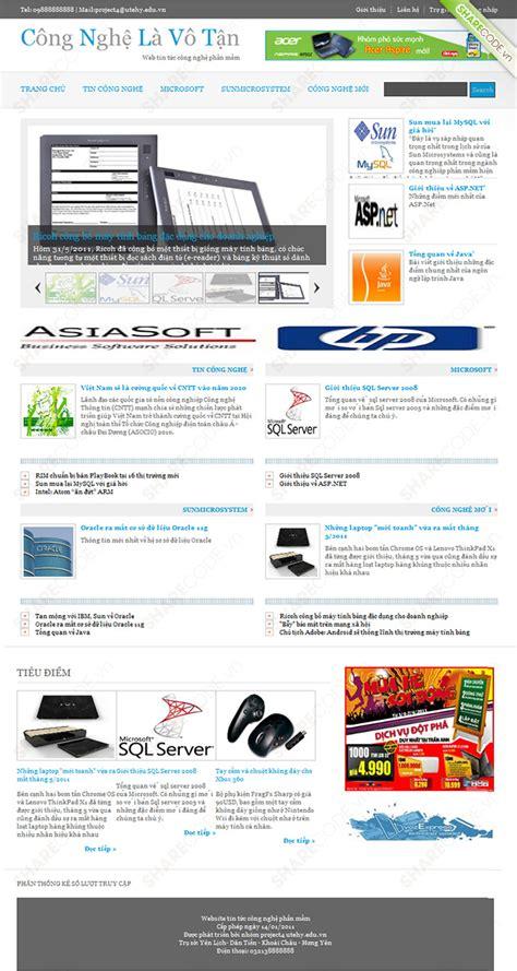 Download Layout Web Tin Tuc | website tin tức c 244 ng nghệ phần mềm full code asp net b 225 o c 225 o