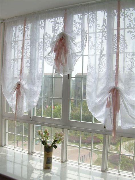 Pull Up Curtains White Sheer Pull Up Austrian Curtain U Ebay