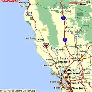 ukiah california map maps mendocino california