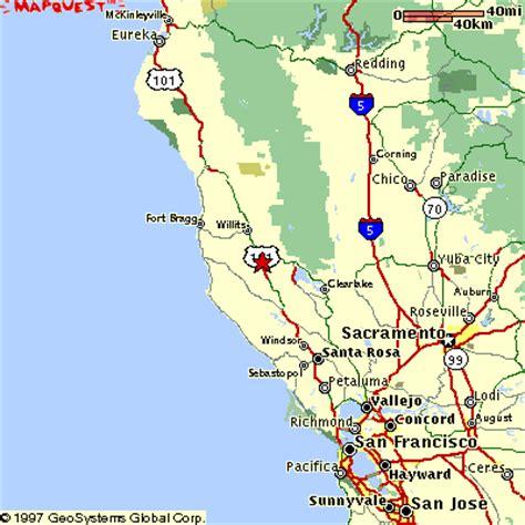 map ukiah ca maps mendocino california