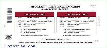 insurance cards templates free auto insurance card templatenokiaaplicaciones