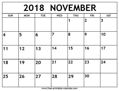 Calendar Nov 2018 Calendar 2018 November 28 Images November 2018