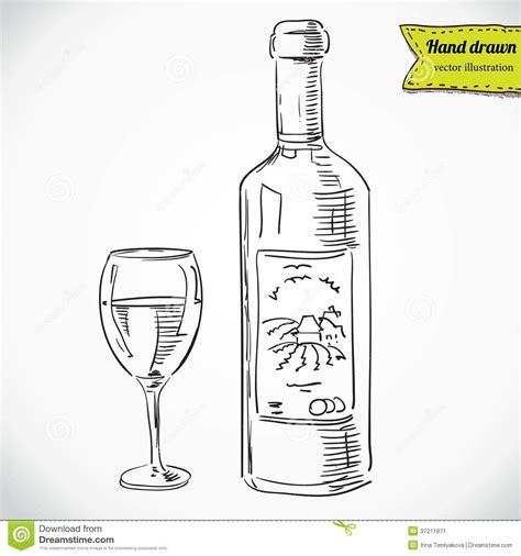 immagini di bicchieri bicchiere di vino e una bottiglia immagine stock