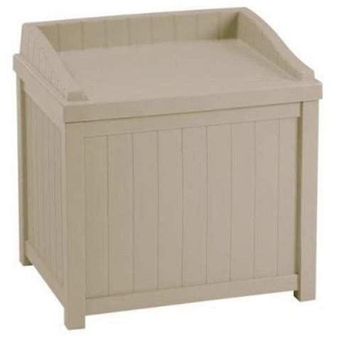 suncast bench premium storage bench furniture seat for patio deck or garden outdoor box in suncast small