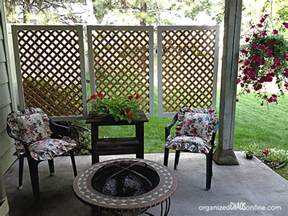 Privacy Wall For Patio by How To Make An Easy Patio Privacy Screen Step By Step