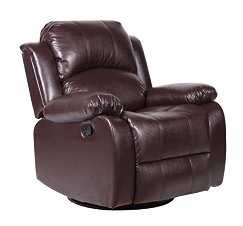 Reclining Swivel Chairs For Living Room Bonded Leather Rocker And Swivel Recliner Living Room Chair Seniors Emporium