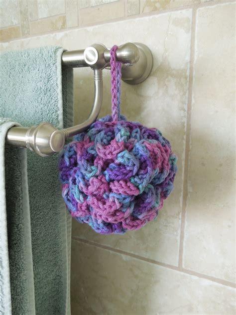 free crochet bathroom patterns bath pouf free crochet pattern