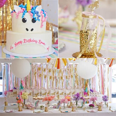 unicorn themed birthday party ideas whimsical unicorn birthday party popsugar moms