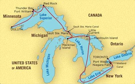 america map great lakes betchart expeditions america