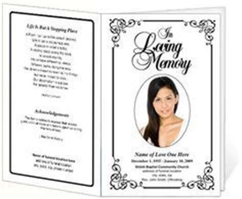 free memorial templates 1000 images about funerals on funeral