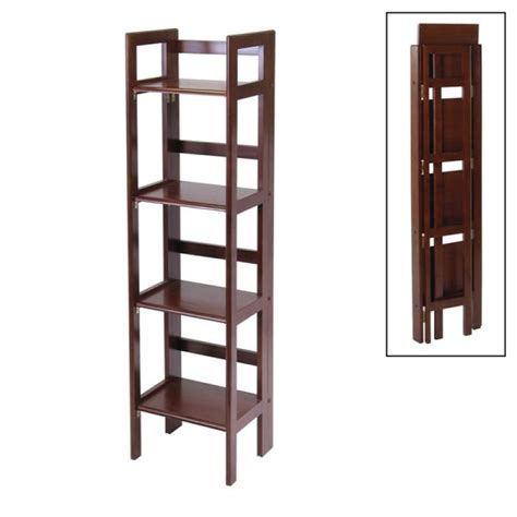 winsome wood folding bookcase winsome wood 14in tier folding shelf bookcase