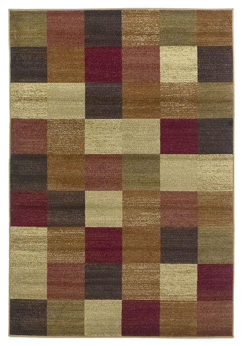 rug squares lifestyles beige squares 91 quot x 63 quot rug lif542653x77 kas rugs