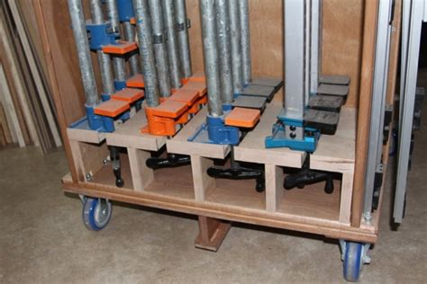 mobile clamp rack part  woodworking talk
