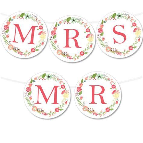 wedding banner colors free printable floral wreath banner printable weddings