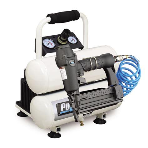 pulsar 2 gallon tank air compressor with nail gun