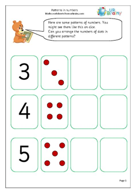 number patterns worksheet for year 1 patterns in numbers counting maths worksheets for year 1