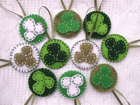s day ornaments st s day felt ornaments by peachpodhandmade on