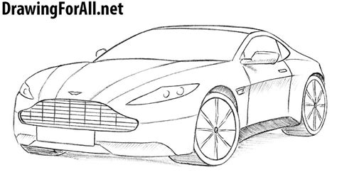 how to draw a jaguar car drawingforall net how to draw an aston martin drawingforall net