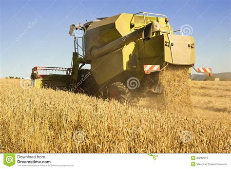 Steunk Combines Modern Tech With Elements by Combine Harvester Backside Royalty Free Stock Image