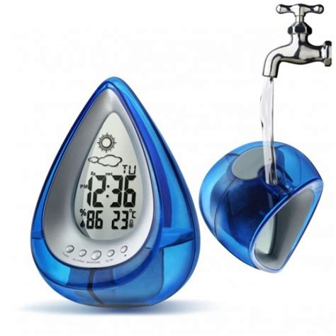 Rotating Water Powered Multifunction Clock by Water Powered Multi Function Digital Desk Clock Drop