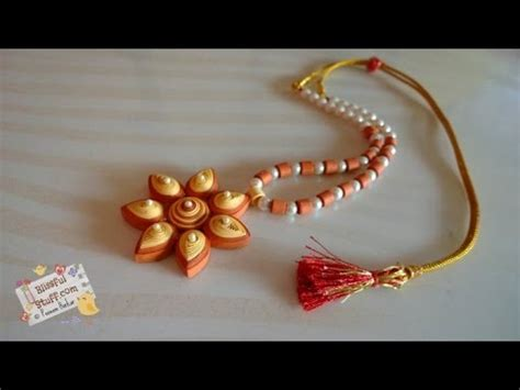 How To Make A Necklace With Paper - diy quilled paper necklace how to make paper quilled