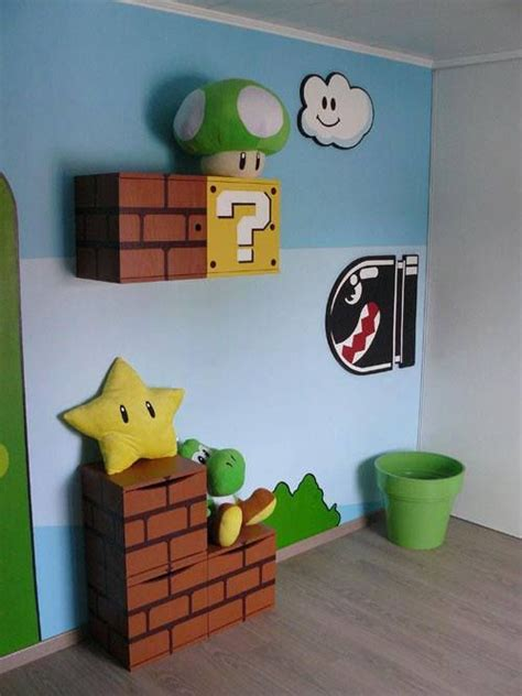 mario themed bedroom mario themed room d co kiddos room pinterest