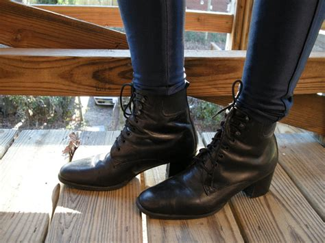 witch boots weekend vintage black leather witch boots sale