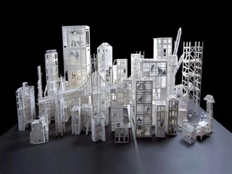 City Origami - origami exibition in architectures de papier