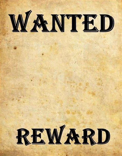 9 Wanted Poster Templates Word Excel Pdf Formats Wanted Poster Template Microsoft Word