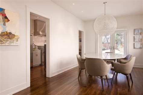 Glamorous Baseboard Trim look Austin Contemporary Dining