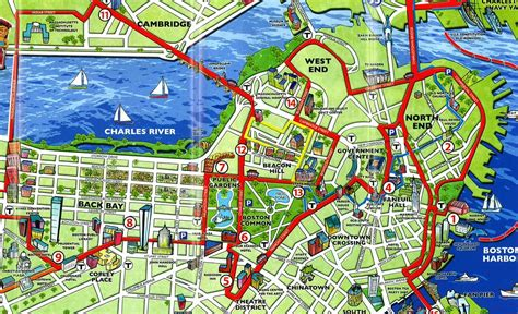 map of and attractions boston attractions map map of boston attractions united