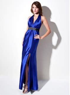 sheath column halter floor length charmeuse evening dress