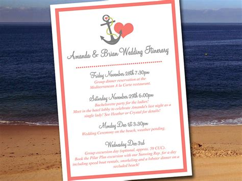 destination wedding itinerary template wedding itinerary template wedding planner