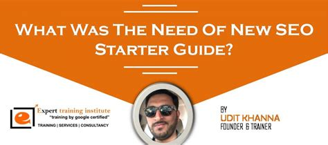 Seo Starter Guide by What Was The Need Of New Seo Starter Guide Expert