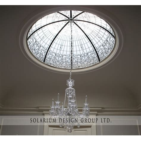 Glass Dome Ceiling by Traditional Dining Room