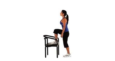 Chair Step Ups by 20 Minute At Home Lower Workout Just Amorous