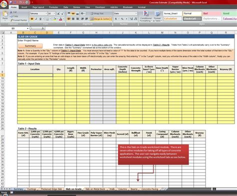 Free Construction Material Takeoff Excel Template Natural Buff Dog Excel Takeoff Template