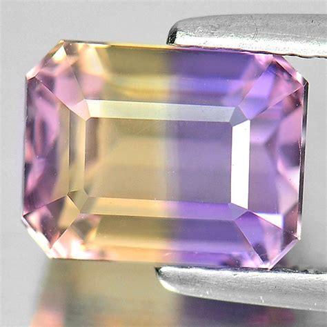 11 X 8 Mm Bi Color Ametrine Unheated Gemstone Octagon 4 34 Ct 3 11 ct beautiful gems octagon shape gem bi color