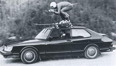 saab turbo powered ski practice ad    ad  italian drivers   double