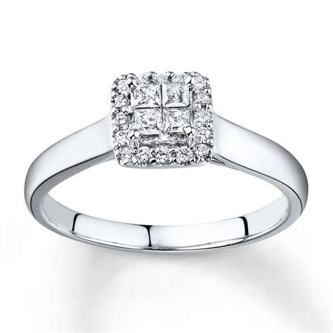 engagement ring 1 2 ct tw princess cut 10k