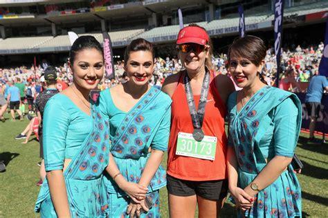 cabin crew members srilankan airlines half marathon fitting prelude to the