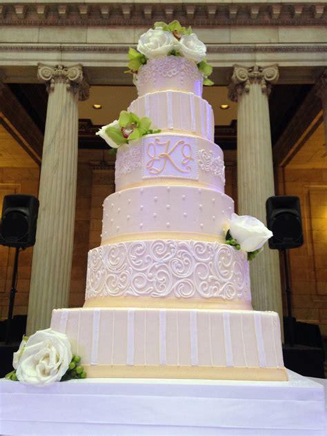 giant wedding cakes 6 tier buttercream wedding cake cakecentral com