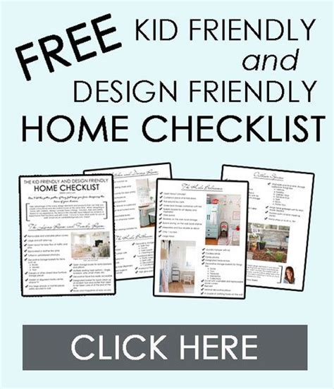 home design checklist free printable kid friendly and design friendly home checklist