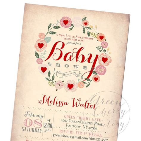 Valentines Baby Shower by Baby Shower Invitation February By