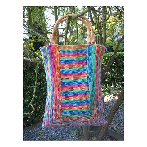 crochet thread bag pattern sock yarn bags crocheted bags annette petavy design